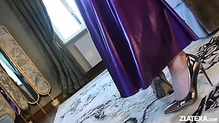 Purple latex dress