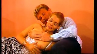 Passionate cock loving German vintage bitch boned and sprayed with cum