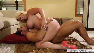 Alluring blonde harlot Alura Jenson banged like once in a lifetime