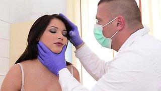 Horny doctor punishes lovely babe Lana