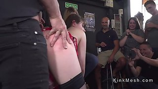 french slave humiliated in public