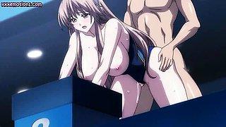 Big meloned anime slut gets jizzed