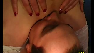 Babe drinks piss and gets anal in watersports gangbang