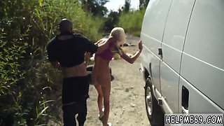 Russian small teen blonde Halle Von is in town on vacation with her boycrony