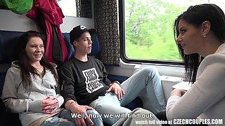 wild fucking in the train