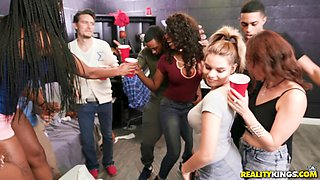 Candice Dare and her friend like to bang together at the party