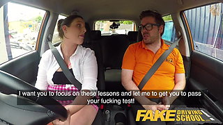 Fake Driving School Busty curvy learners horny blowjob