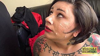Tattooed chick Lily Brutal likes nothing more than fucking with a friend