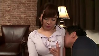 Japanese mom and son teaching how to fuck