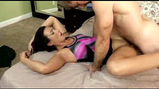 degenerate son fucks not her mom in her ass - new