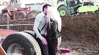 Hot German Big Tit Teen Seduce to Fuck Outdoor by Stranger