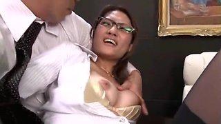 Crazy Japanese girl Rina Fujimoto in Fabulous Secretary, Fingering JAV clip