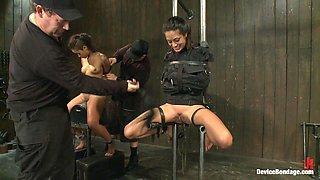 Kinky bondage sluts experimenting abuse