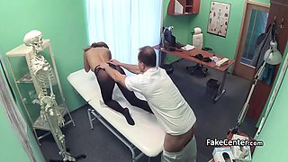 pantyhose busty fucked by her doctor