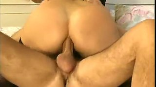 Sensational and elegant babe boned in the butthole with a big cock