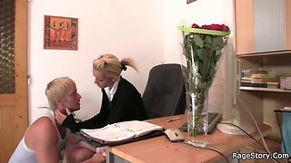 he fucks his gf rough directly in the office