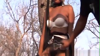 African Chick Abused And Filled By Cocks Outdoors
