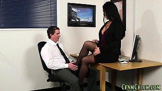 Cfnm office brits cuff