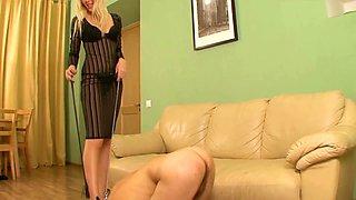 Beautiful mistress with cuckold