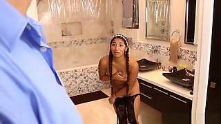 Latina Babysitter Spunked