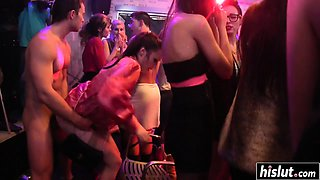 Smoking hot babes love to party hard