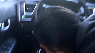 Amateur Asian car suck and swallow