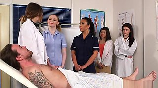 Cockhungry Cfnm Nurses Cocksucking Lucky Guy