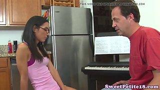 19yo Tia pussyfucked by her piano teacher