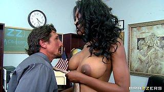Naughty Black Schoolgirl Undressing