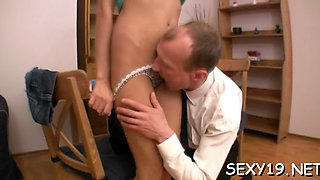 cumshot les from old teacher clip feature 1