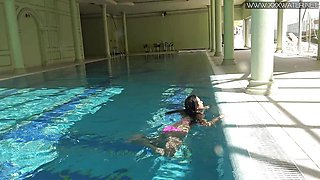 Kinky Russian Jessica Lincoln in the pool
