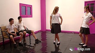 Judith Becker and Ainara are interested in horny lovers' dicks