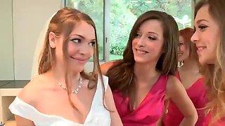 Bride fucked by bridesmaids