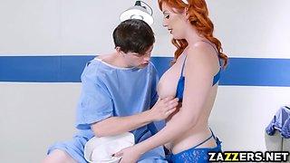 Navy Nurse Lauren Phillips sucks the sailors big cock