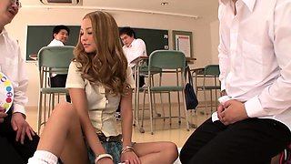 Mesmerizing Asian schoolgirl gets drilled deep and creampied