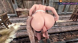 Futa big tits ass animation 3d hentai