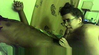hot nerd Nicole Quinn sucks BBC then rides to orgasm with toy
