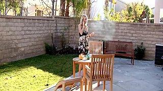 Thin Blonde smoking (JS)