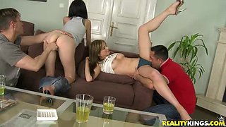 Watch MMF Threesome banging involving all nasty tricks