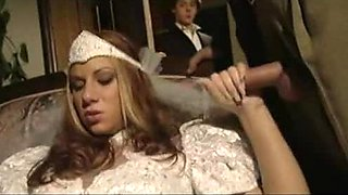 Cuckold Guy Is Forced To Watch His Super Hot Bride Getting Threesomed