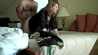 Busty milf having fun with boss on business trip