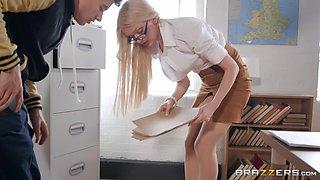 horny teacher sucks my dick