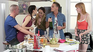 Anny Aurora and her slutty friends get into a wild hardcore group sex