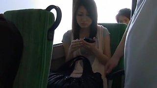 Hottest Japanese chick Saki Yano in Fabulous Public, Handjobs JAV clip