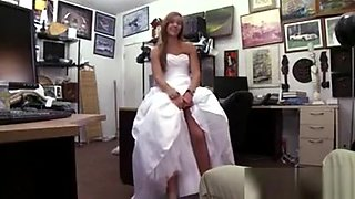 A beautiful bride fuck in the office