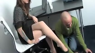 Incredible homemade Office, Foot Worship porn scene