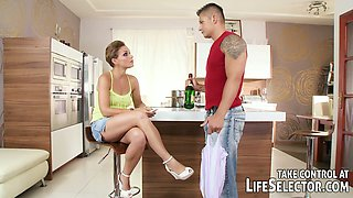 After a night of clubbing Szilvia Lauren is ready to fuck her husband