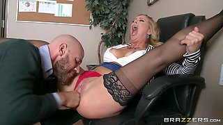 johnny sins licks her boss cherie deville's cunt to keep his wife's job