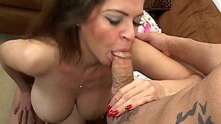 Mature Mom Huge Tits Fucks  Cock