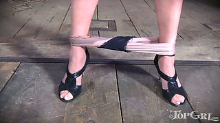 It is so exciting how Bella Rossi punishes her slave in the dungeon